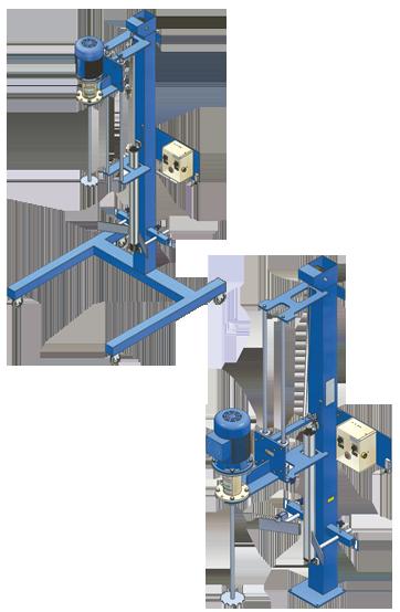 AGITASER soportes elevadores para agitadores