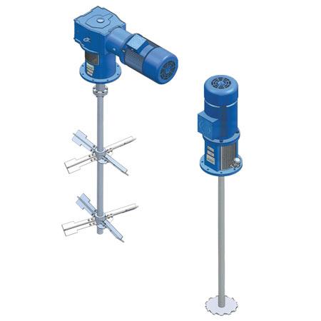 agitadores verticales serie SSC de Agitaser