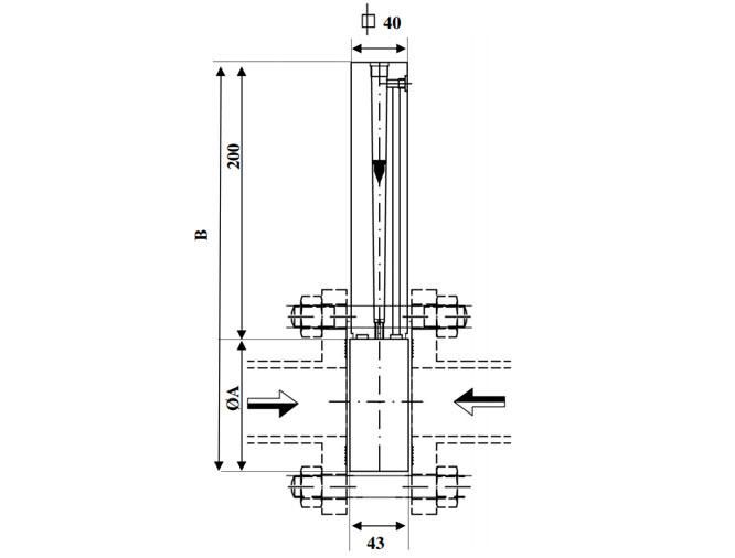 Esquema de caudalímetros Serie OP La Técnica Fluidi