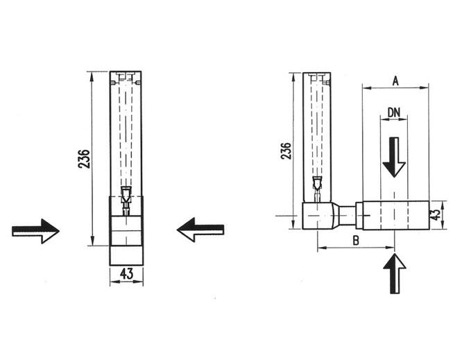 Esquema de caudalímetros Serie PD La Técnica Fluidi