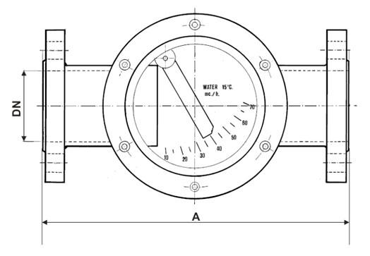 Esquema de caudalímetros Serie W La Técnica Fluidi