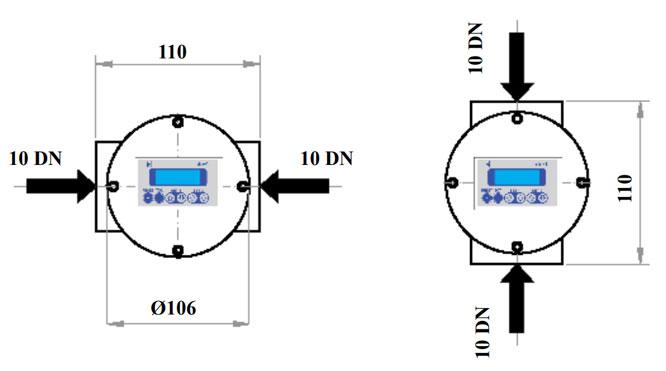 Esquema de caudalímetros Serie DEL La Técnica Fluidi